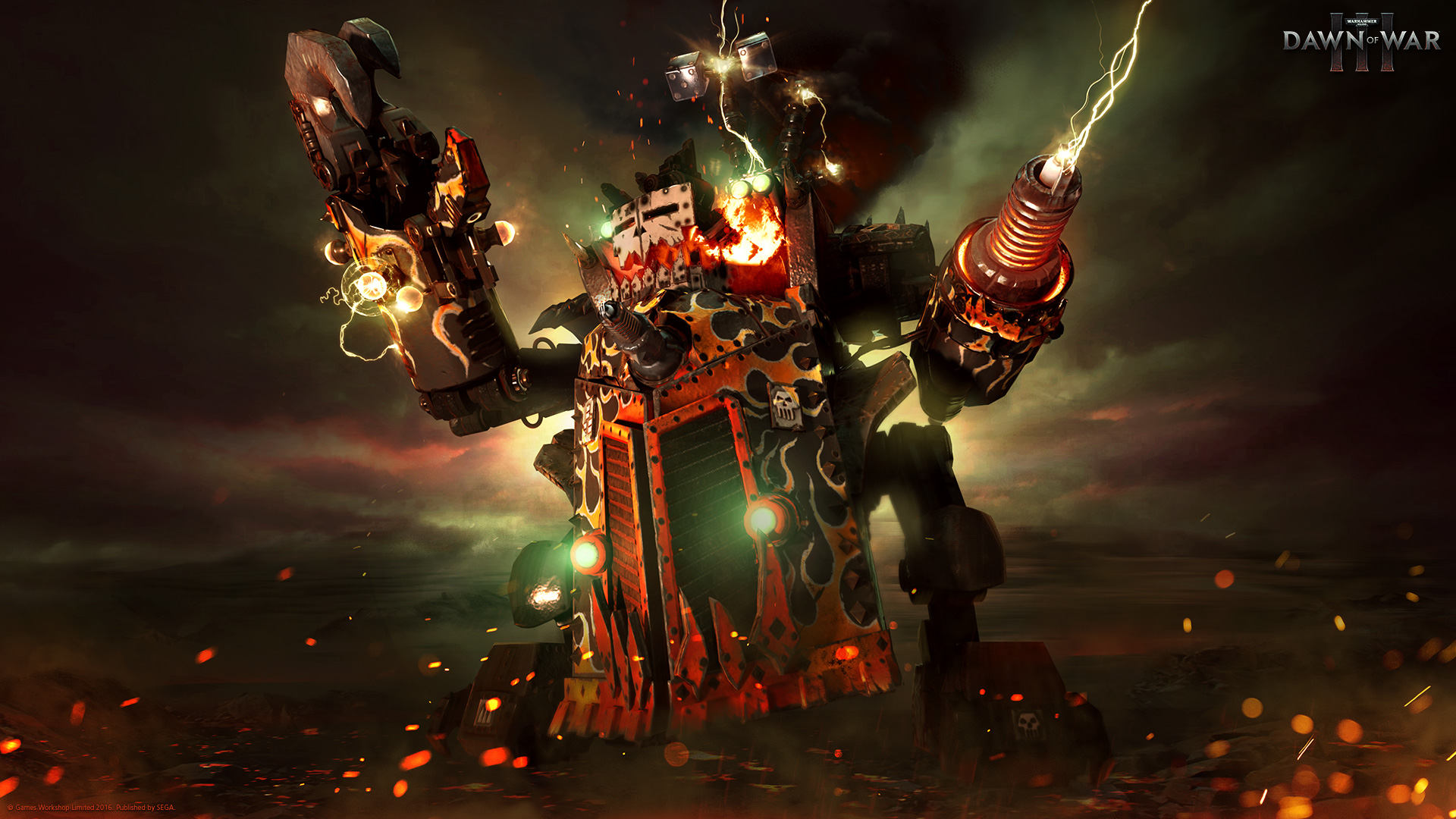 Gorkanaut Ork walker in Dawn of War 3